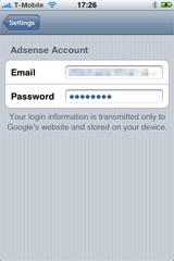 SenseEarn - iPhone Adsense app for statistics